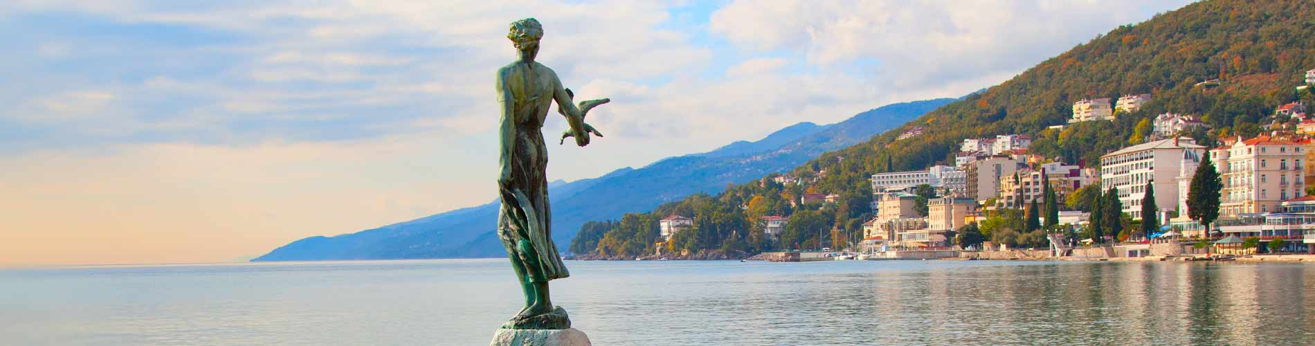 Maiden with seagull Opatija Croatia.jpg