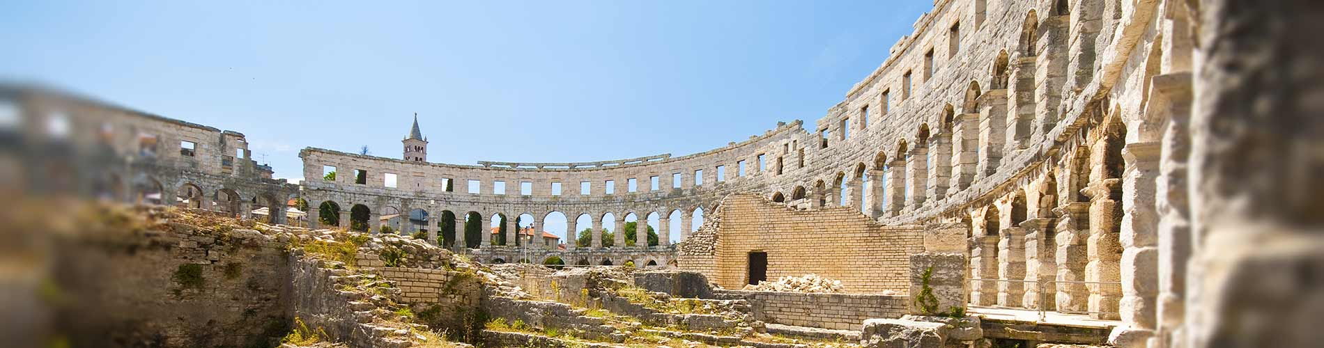 Inside the Roman amphitheater Pula Croatia.jpg